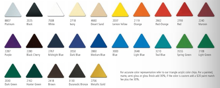 31 Standard Pigmented Colors