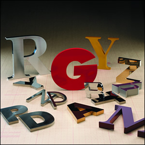 Zip Fabricated Metal Sign Letters