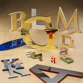 Laminated Sign Letters