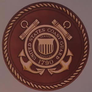 US Coast Guard Bronze Emblem