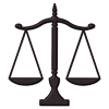 Scales of Justice Sign Symbol