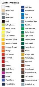 Gemini Sign Letters colors